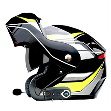LRJ Casco Bluetooth para Motocicleta Cara Completa Cascos ...