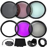 Professional 52MM Lens Filter Bundle Kit, 6 Compact Nikon Accessories