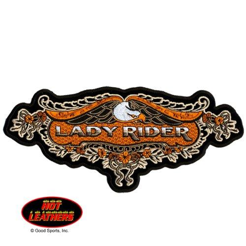 Hot Leathers, LACE EAGLE LADY RIDER, Iron-On / - Lady Rider Motorcycle Shirts