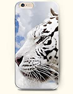 SevenArc Phone Case for iPhone 6 Plus 5.5 Inches with the Design of Beautiful White Tiger