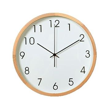 ZWL Wanduhr, Stumme Uhr Quarz Uhren Massivholz Wohnzimmer Schlafzimmer  Studie Einfache Moderne Doppel Backplane Wand