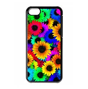 Laugh Face Sunflower logo hard back cover for iPhone 5C