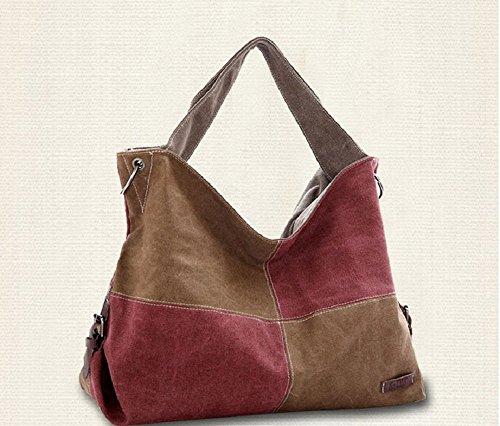 Superbison - Bolso estilo cartera para mujer multicolor negro marrón