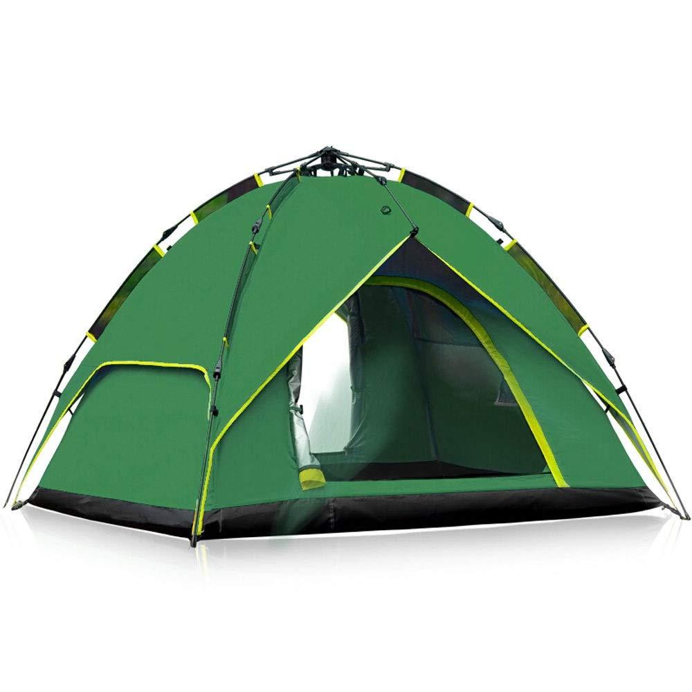 Bhelf 3-4 persone a doppio strato multi-persona resistente alle intemperie Camping Camping Pergola, Outdoor multifunzione Tenda automatica, antipioggia Traspirante confortevole all'aperto Tenda casual
