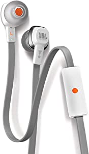 JBL J22a WHT High Performance In Ear Headphones with JBL Drivers and Microphone, White