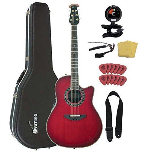 Ovation AX Series C2079AX-CCB Acoustic-Electric Guitar Bundl
