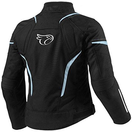JET Chaqueta Moto Mujer Textil Impermeable con Armadura (S (ES 36-38), Azul)