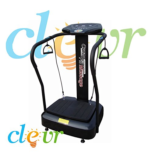 Clevr Crazy Fit Pro Vibration Massage Fitness Exercise Machine Vibe Plate Platform