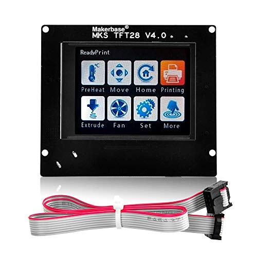 Gowoops 3D Printer Controller LCD Touch Sreen for Arduino, MKS TFT28 2.8'' LCD Display, Suitable for MKS Base Gen Mini SBASE Board, TFT28 Can Work with -