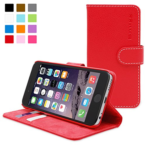 iPhone 6 and 6S Case, Snugg Red Leather Flip Case [Card Slots] Executive Apple iPhone 6 and 6S Wallet Case Cover and Stand - Legacy - Ipad Case Rated Highest 4