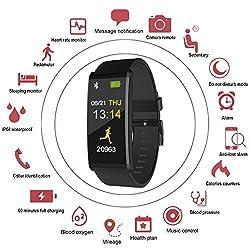 uwinmo Smart Watch, Fitness Tracker Watch IP68 Waterproof, Long-Life Battery, Smartwatch Blood Pressure& Heart Rate Monitor Support Android IOS, Health Sport Watch Pedometer Kids Women Men