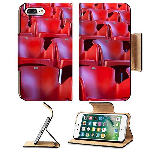 Luxlady Premium Apple iPhone 7 Plus Flip Pu Leather Wallet Case iPhone7 Plus 8260968 Red stadium seats