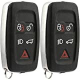 KeylessOption Keyless Entry Remote Control Car Smart Key Fob Replacement for KOBJTF10A (Pack of 2)