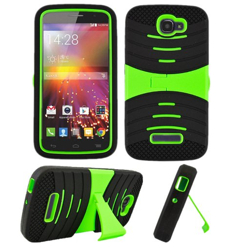 meet e5b6e 2c5dc Phone Case for Alcatel Onetouch Pop Icon Rugged Heavy Duty Armo Cover Green  Stand A564c 7040