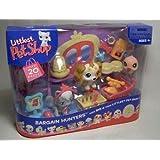 Littlest Pet Shop Figures Themed Playset Bargain Hunters (Pet Shopping) with Grey Cat, Dog & Pink Hummingbird