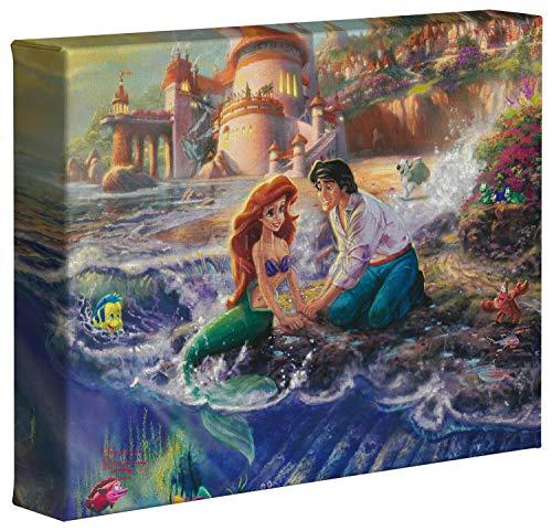 Thomas Kinkade Disney The Little Mermaid 8 x 10 Gallery Wrapped Canvas ()