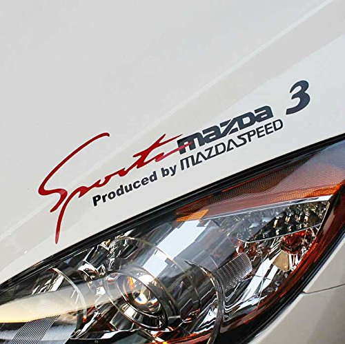 Etie 35x11cm reflective sports mind decal vinyl car stickers headlight sticker for mazda 3 blackred buy online in kuwait etie products in kuwait