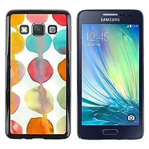 """Pulsar Snap-on Series Teléfono Carcasa Funda Case Caso para Samsung Galaxy A3 , Teal White Paper Kids Arte"""""""