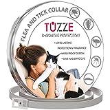 TUZZE Cats Flea and Tick Collar - 8-Month Flea Prevention Cat Collar - Adjustable and Waterproof Cat Flea and Tick Control