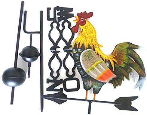 Rovive - Veleta de Metal con Gallo, diseño de Gallo, decoración de jardín y Patio: Amazon.es: Hogar