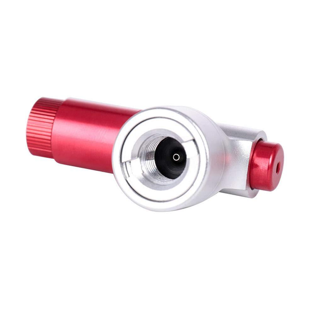 LLDHWX Presta Valve CO2 Inflator Pompe de pneus de v/élo Simple et Rapide pour VTT avec Tuyau isol/é sans Cartouche CO2