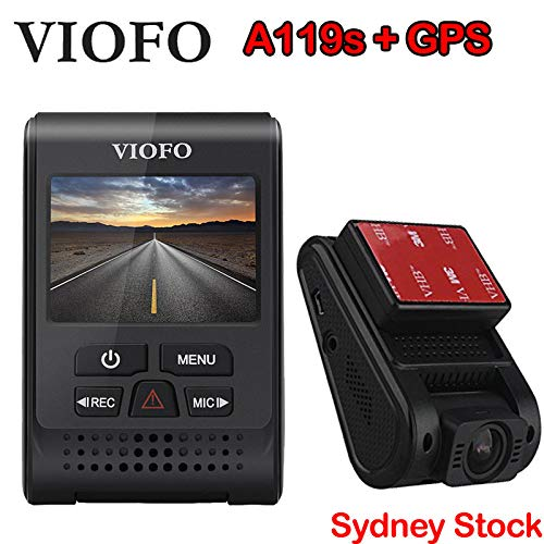 - VIOFO Spy Tec A119S DashCam with GPS Sony IMX291 60fps 1080p Sensor Novatek 96660 and G-Sensor wide-angle lens