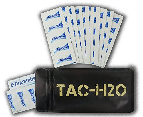 Expedition Research LLC TAC-H2O - 100 Aquatab 49mg Water Purification Tablets - by Tac-Bar Tactical Food Rations ()