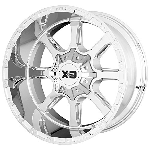 XD SERIES BY KMC WHEELS XD838 MAMMOTH Wheel with CHROME and Chromium (hexavalent compounds) (24 x 14. inches /8 x 125 mm, -76 mm Offset)