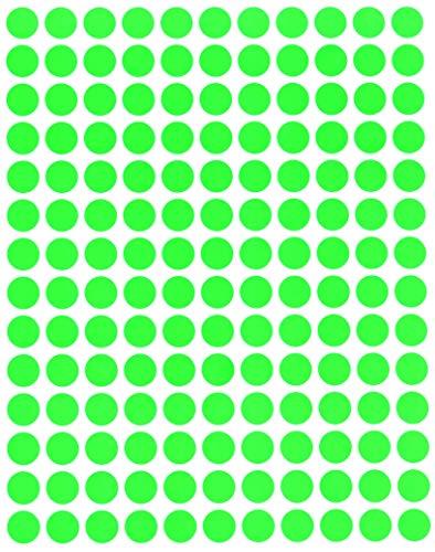 Round Neon Colour Code Labels 3/8