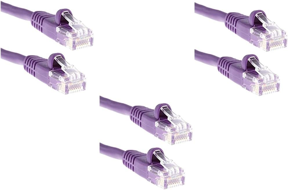 Snagless//Molded Boot Purple CNE49332 Cat5e 100-Foot Ethernet Patch Cable 3-Pack