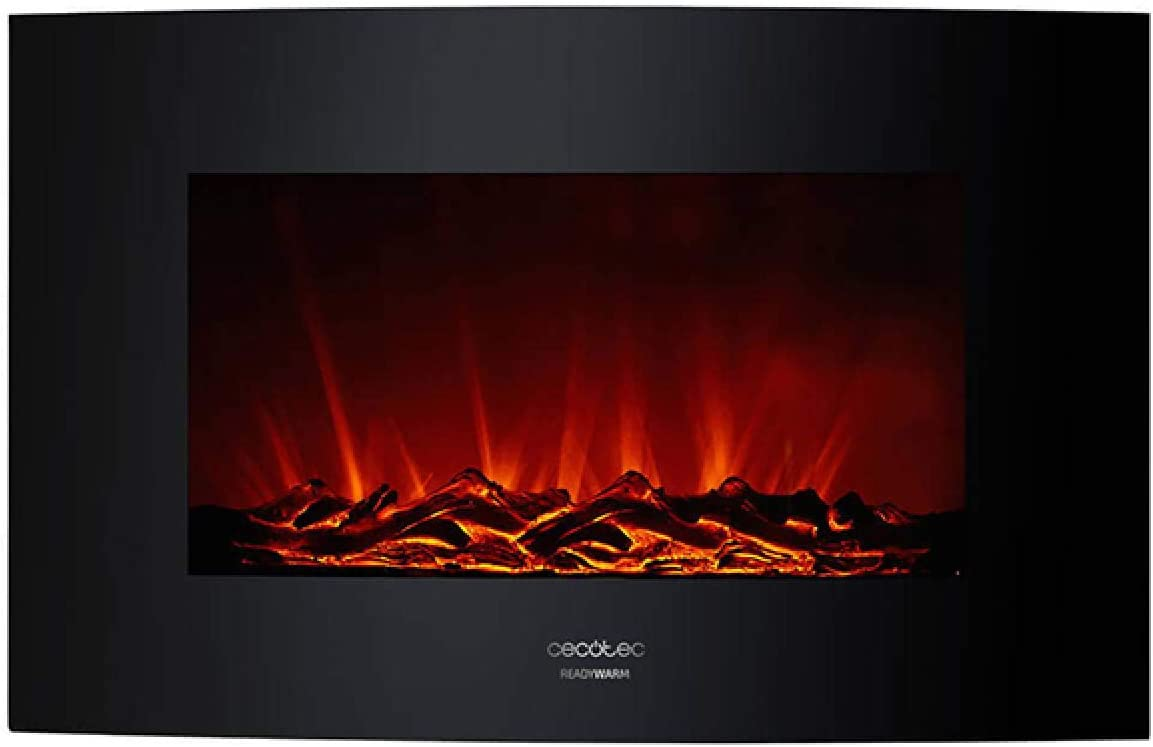 Cecotec Chimenea electrica Decorativa de Pared Ready Warm 3500 Curved Flames