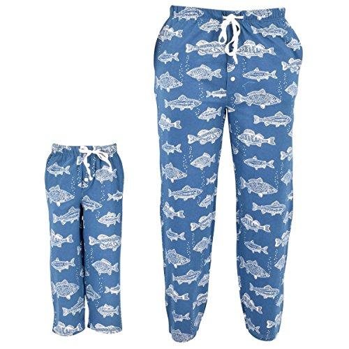 Unique Baby UB Kids Fisherman Print Matching Family Father's Day Pajama Pants (Unique Kids Pajamas)