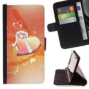 Momo Phone Case / Flip Funda de Cuero Case Cover - Amor Naranja - Samsung Galaxy Note 5 5th N9200