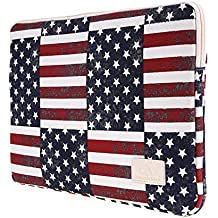 CanvasArtisan USA Flag 15-15.6 Inch Laptop Sleeve Bag Cover for Apple, Ausa, Acer, Dell, Hp, Lenovo, Sony, Toshiba, Samsung Ultrabook Bag Cover