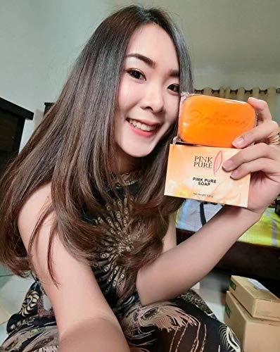 10 Units of Pink Pure Soap 100g. Brightening Aura Skin Care Reduce Dark Spot Acne Wrinkle Gentle formulation With Coconut oil Carrot Vitamin B3[Get Free Tomato Facial Mask] by Pink Pure Soap (Image #8)