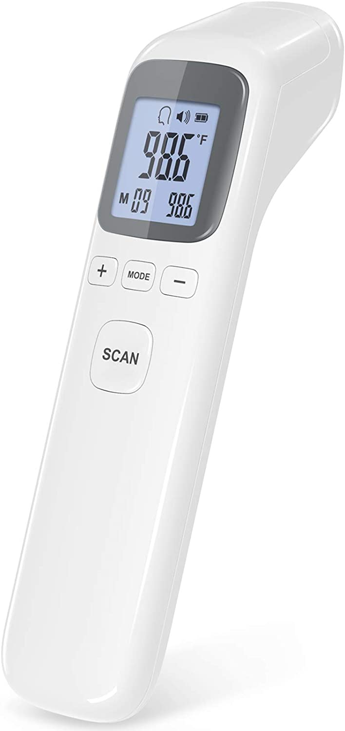 Thermometer for Fever, No-Touch Forehead Thermometer with Object Mode Function,Fever Alert and 32 Set Memory Recall,Digital Thermometer for Adults and Kids