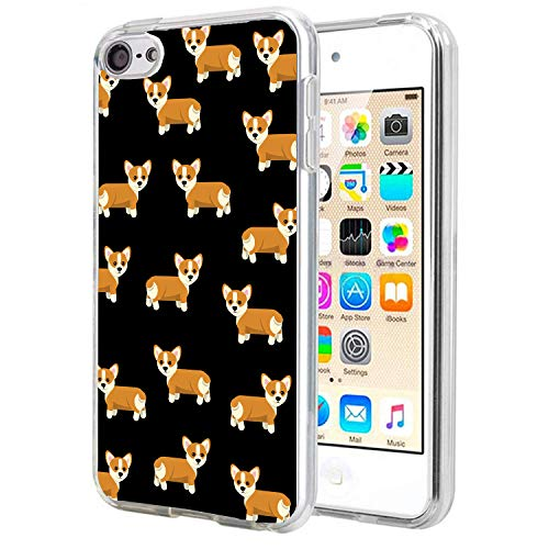 Matcase for I pod Touch 6 Case I pod Touch 5 Case - Corgi Dog Pattern Crystal Clear Transparent Anti Scratch Resistant Shock Absorption Ultra Slim Fit Protective with TPU Bumper Hybrid Designer Case (Ipod Touch Designer Case)