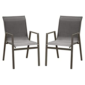 SunRise Chaise de Salon de Jardin en Aluminium Marbella Lot de 2 ...