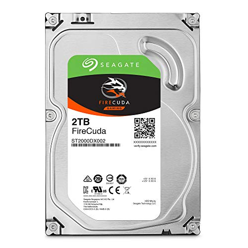 Seagate FireCuda 2TB Solid State Hybrid Drive Performance SSHD - 3.5 Inch SATA 6Gb/s Flash Accelerated for Gaming PC Desktop (ST2000DX002)