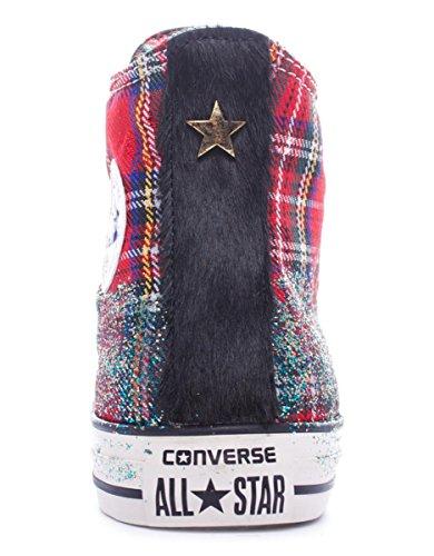 CONVERSE ALL STAR mujer zapatillas de deporte de alto HI TEXTILES LTD 1C15FA22 brillo de tartán Tartan Glitter