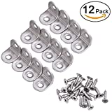 Tools & Hardware : Zapour 12 Pack 20 by 20 mm Corner Brackets Corner Brace Angle Brackets with 24 Pack Screws