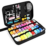 Sewing Kit, IEKA Premium DIY Sewing Zipper Portable Small Simple Sew Supplies for Home, Traveller, Adults, Beginners and Emergency, Complete Mending Over 97 Sewing Accessories