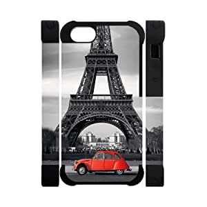 Canting_Good,Eiffel Tower, Custom Dual-Protective 3D Polymer Case for IPhone 5