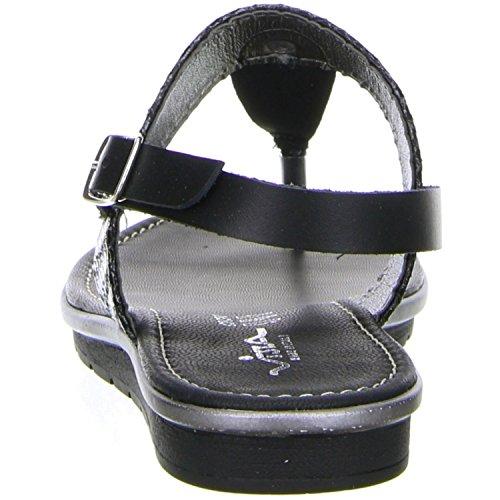 Damen Vista Schwarz Zehentrenner Sandaletten Schwarz qHB1X