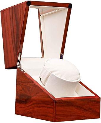 Watch Winder Caja Caja Giratoria Reloj Automatico Cajas Giratorias para Relojes Caja De Motor De Madera De Laca De Bobinado AutomáTico De Carga Simple Enrollador De Reloj AutomáTico: Amazon.es: Relojes