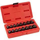 Sunex 3646 3/8-Inch Drive Stubby Impact Hex Driver Set SAE And Metric, 16-Piece