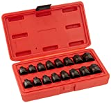 7 16 drill bit long - Sunex 3646 3/8-Inch Drive Stubby Impact Hex Driver SAE and Metric Set, Inch/Metric, 6-Point, Cr-Mo, 1/4-Inch - 3/4-Inch, 6mm - 19, 16-Piece