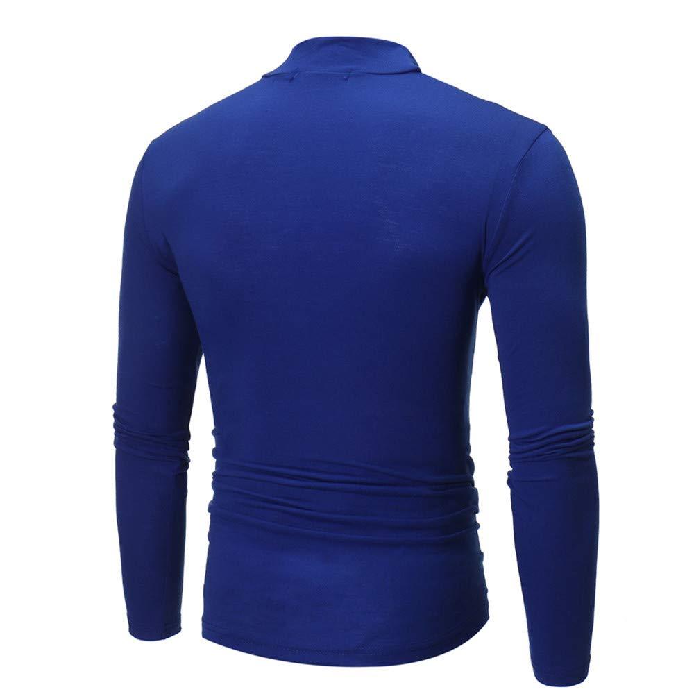 Tefamore-Hommes T-Shirt /à Manches Longues /à col roul/é et /à Manches Longues pour Hommes