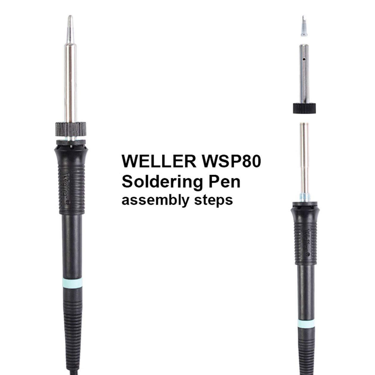 couleur: noir 80W WSP80 Poign/ée de station de soudage avec stylo WSD81 pour outil de soudage Weller WS81 WS80 Poign/ée de fer /à souder /électrique 24V