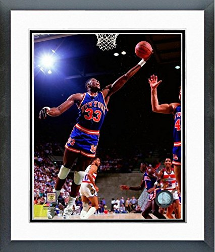 Patrick Ewing New York Knicks NBA Action Photo (Size: 26.5'' x 30.5'') Framed by NBA